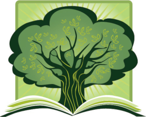 Tree of knowledge pictured in the library's logo