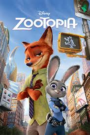 Zootopia dvd cover with characters Judy Hopps (rabbit) and Nick Wilde (fox)