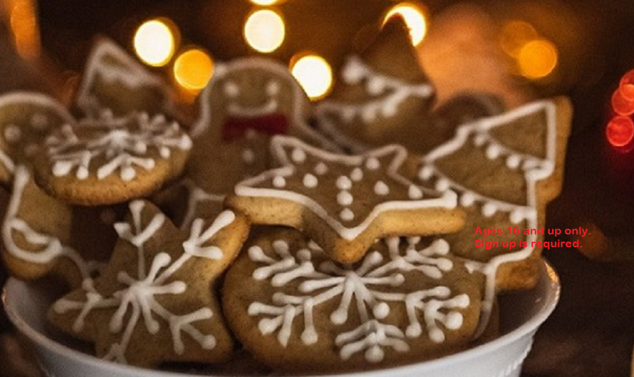 bowl of decorated spice cookies