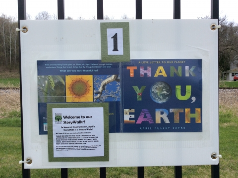 Thank You Earth by April Pulley Sayre, a StoryWalk