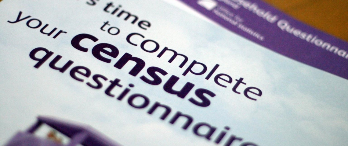 A picture of the US Census questionnaire cover.